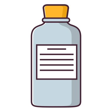 Packing of tablets label. An icon for website of hospital or clinic.Flat line art vector. icon