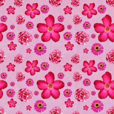 pink flower seamless abstract pattern background