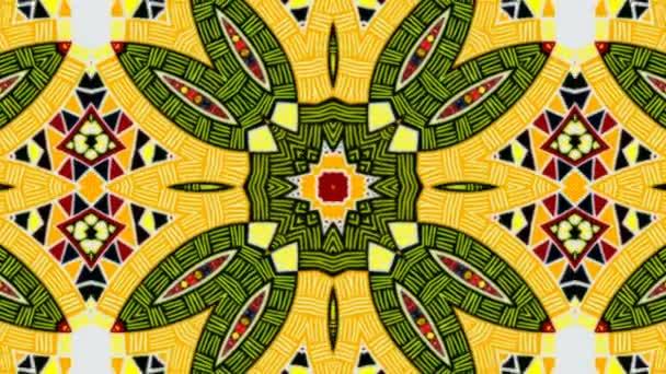 Abstraktní kaleidoskop geometrické vzory a postavy