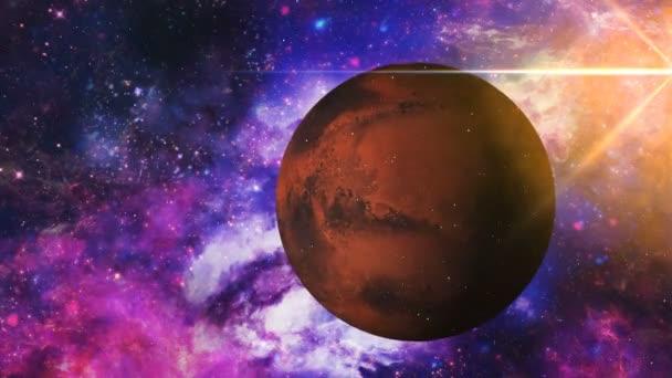 Narancssárga bolygó a háttér, a köd és a csillagok. Hely jelenet. 3D render. Ez a kép a Nasa berendezett elemei