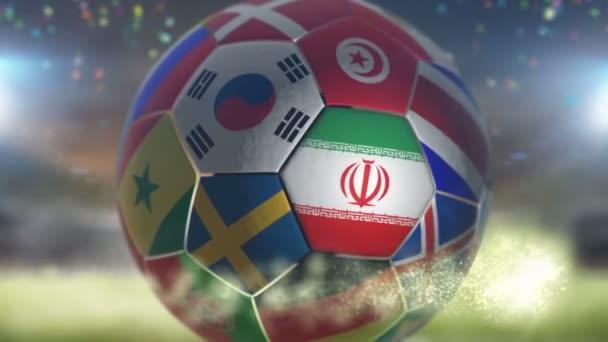 iran flag on a soccer ball