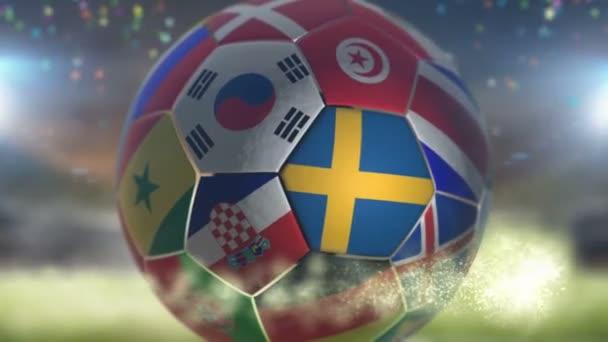 sweden flag on a soccer ball