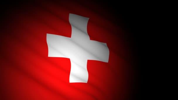 Schweizer Flagge weht im Wind