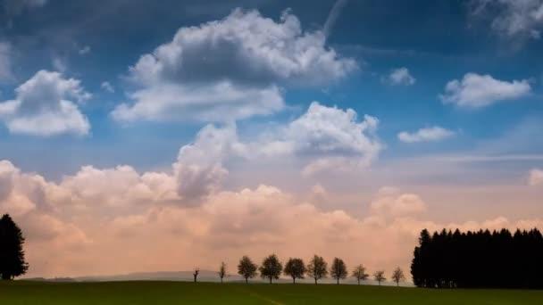 čas lapse video krásné oblohy