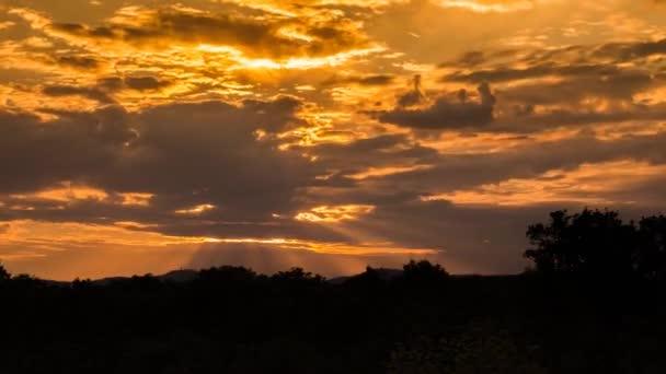 time lapse videó naplemente nézet