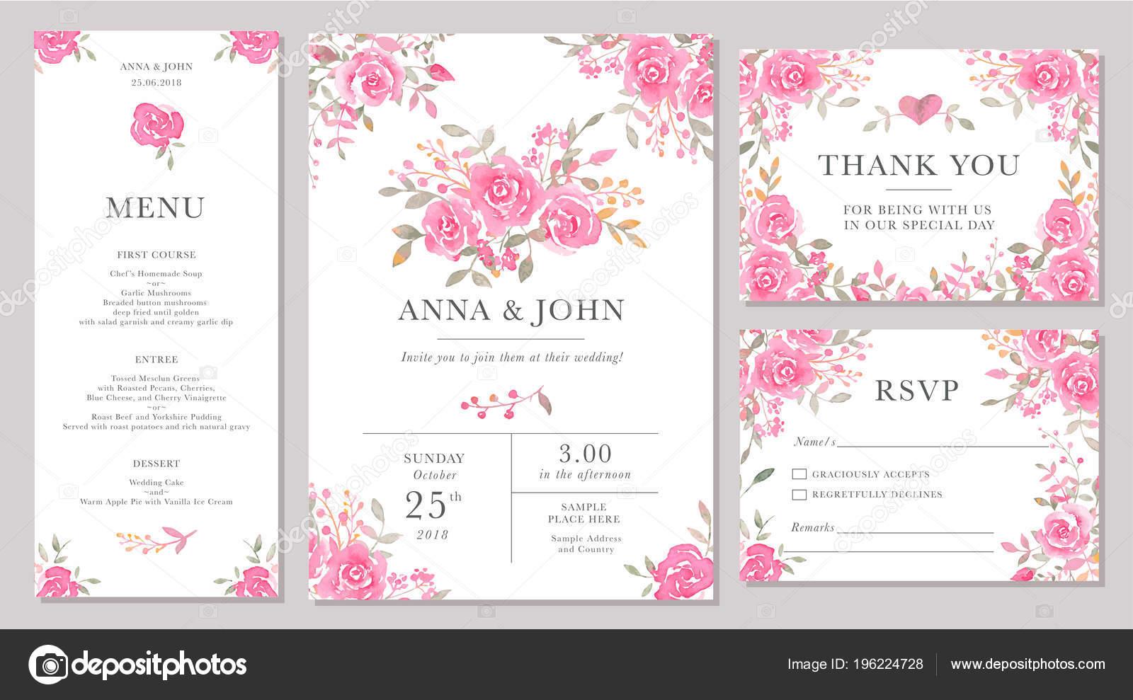 Imágenes Invitaciones De Boda Con Rosas Conjunto Modelos