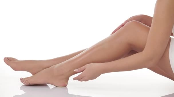 legs and feet of beautiful young girl