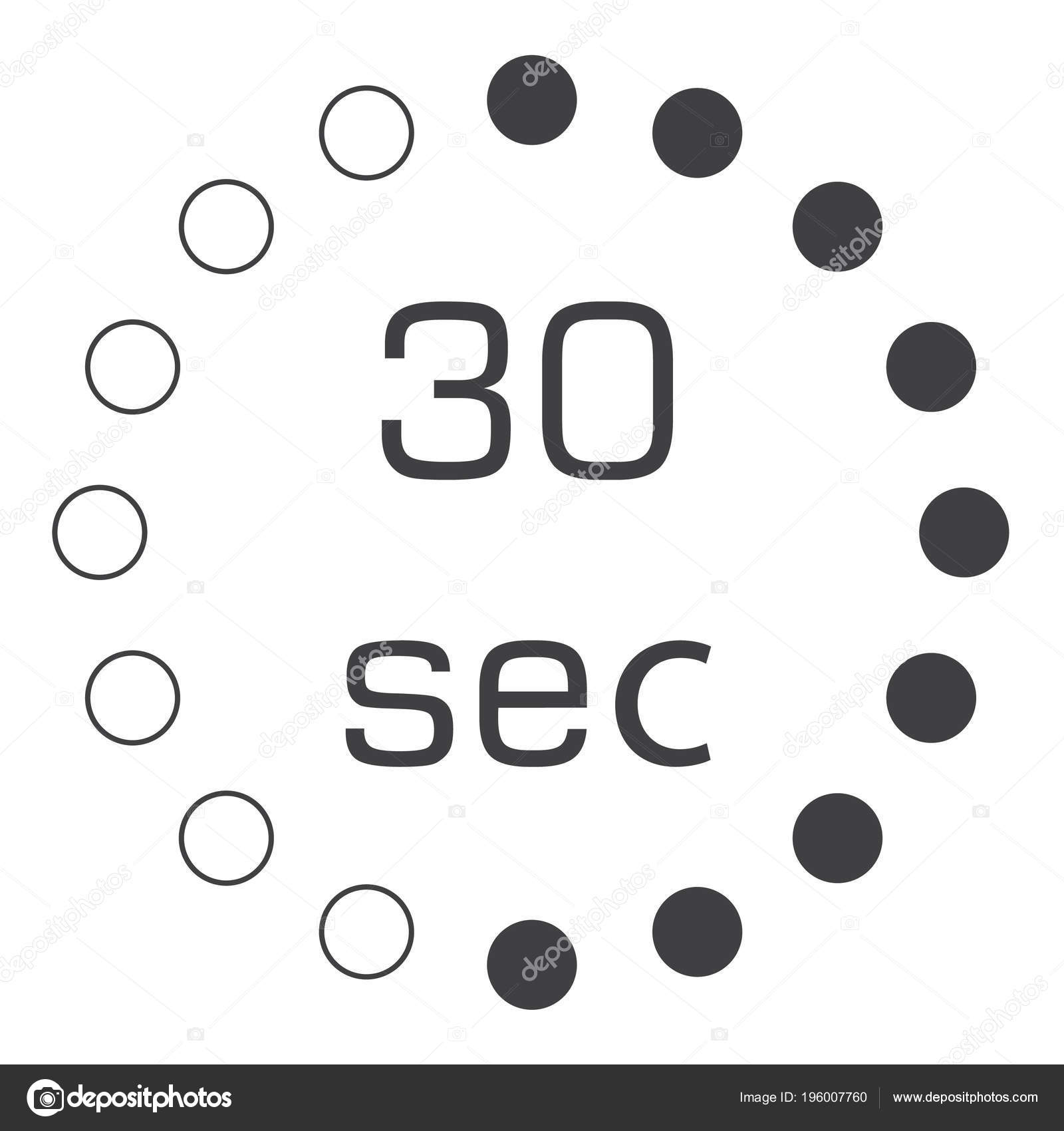 seconds stopwatch vector icon digital timer clock watch timer