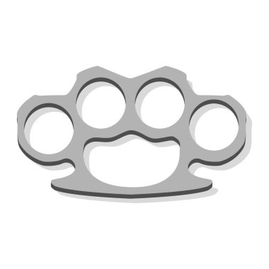 Raster icon metal knuckles isolated on white background. Weapon