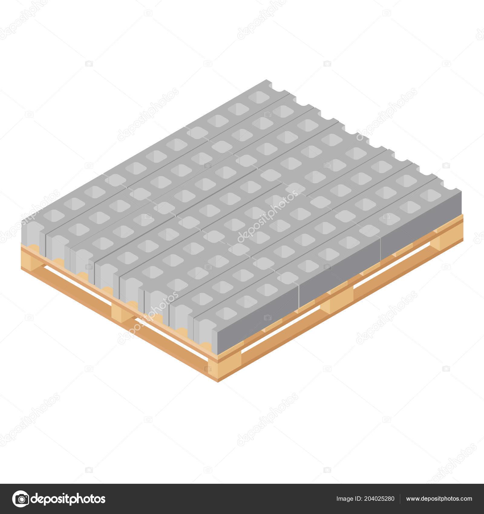 raster illustration isométrique standard building blocs béton sur