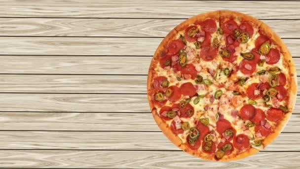 Video reklamy na obrazovce Pizza