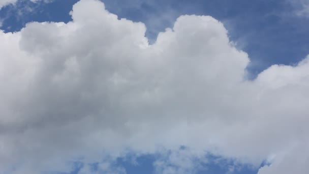 Cumulus clouds slowly floating in the sky
