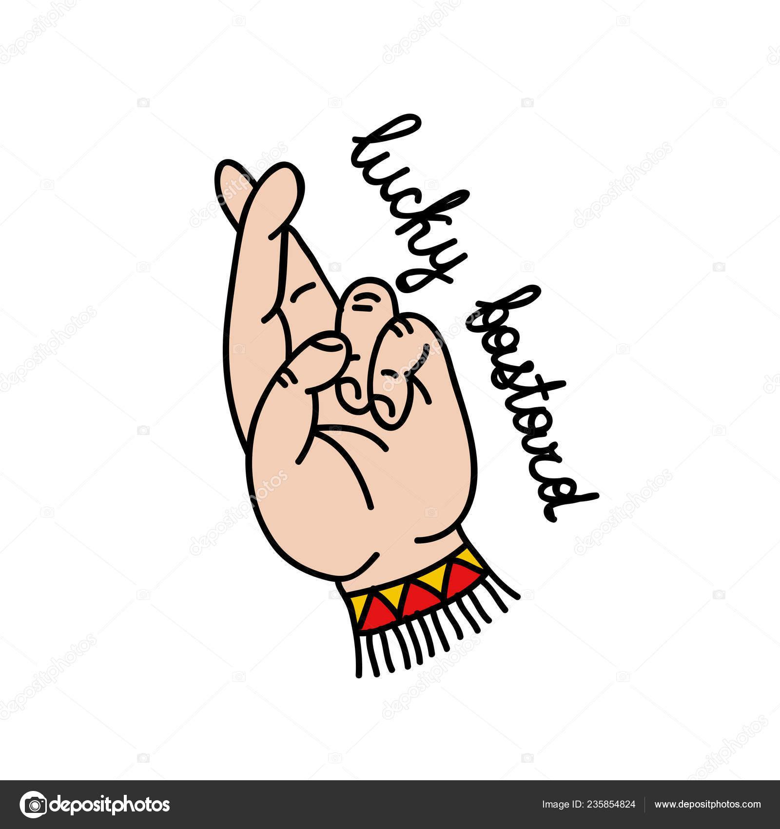 88ebfd2b5176e Lucky Bastard Illustration Traditional Tattoo Flash — Stock Vector ...