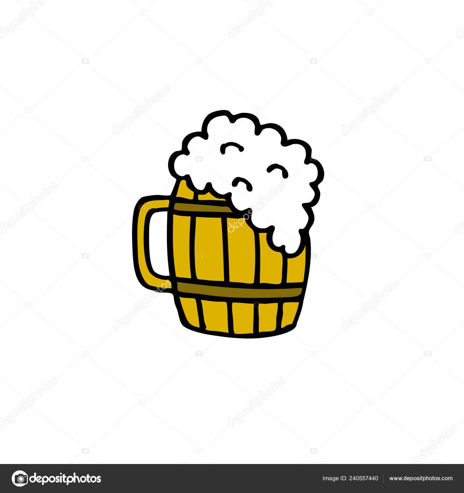 Beer Mug Doodle Icon Stock Vector C Pani Chernous 240557440