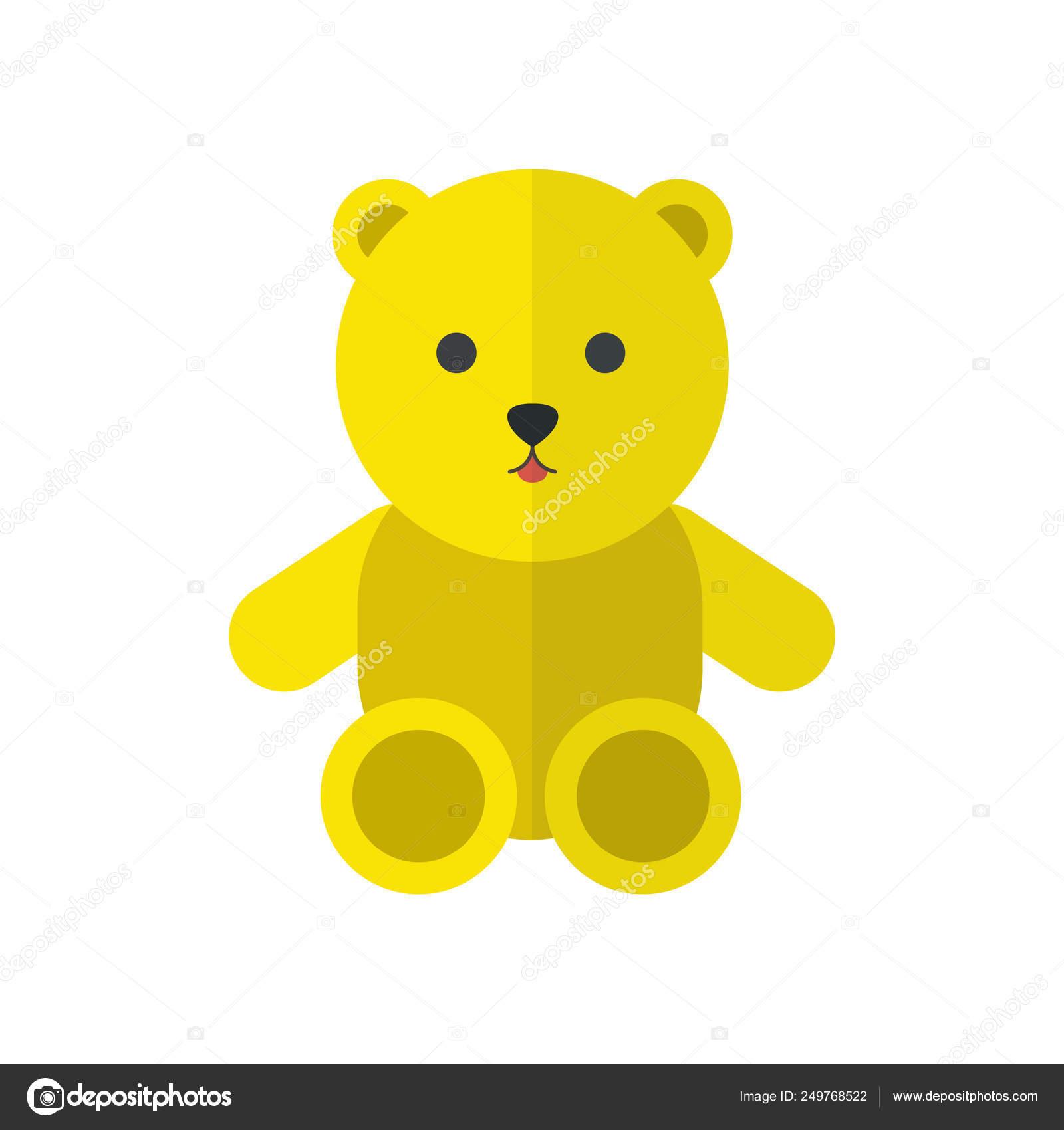 Icone De Vetor De Urso De Pelucia Vetor De Stock C Pani Chernous