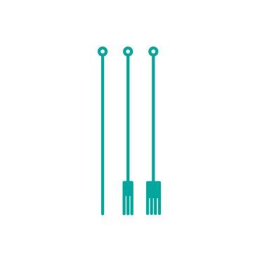 Tattoo needles line icon, vector color illustration icon