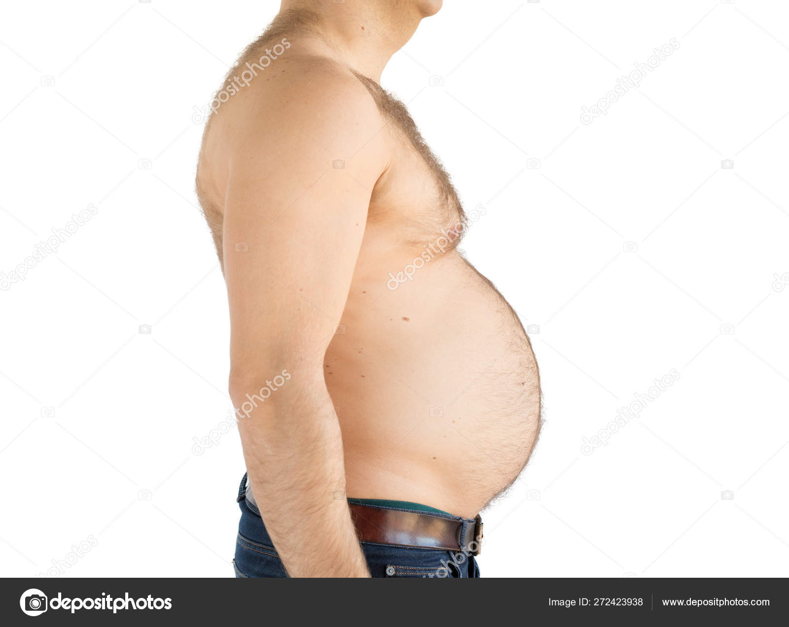 Silhouette Obese Overweight Man Fat Belly Stock Photo C Grinvalds 272423938