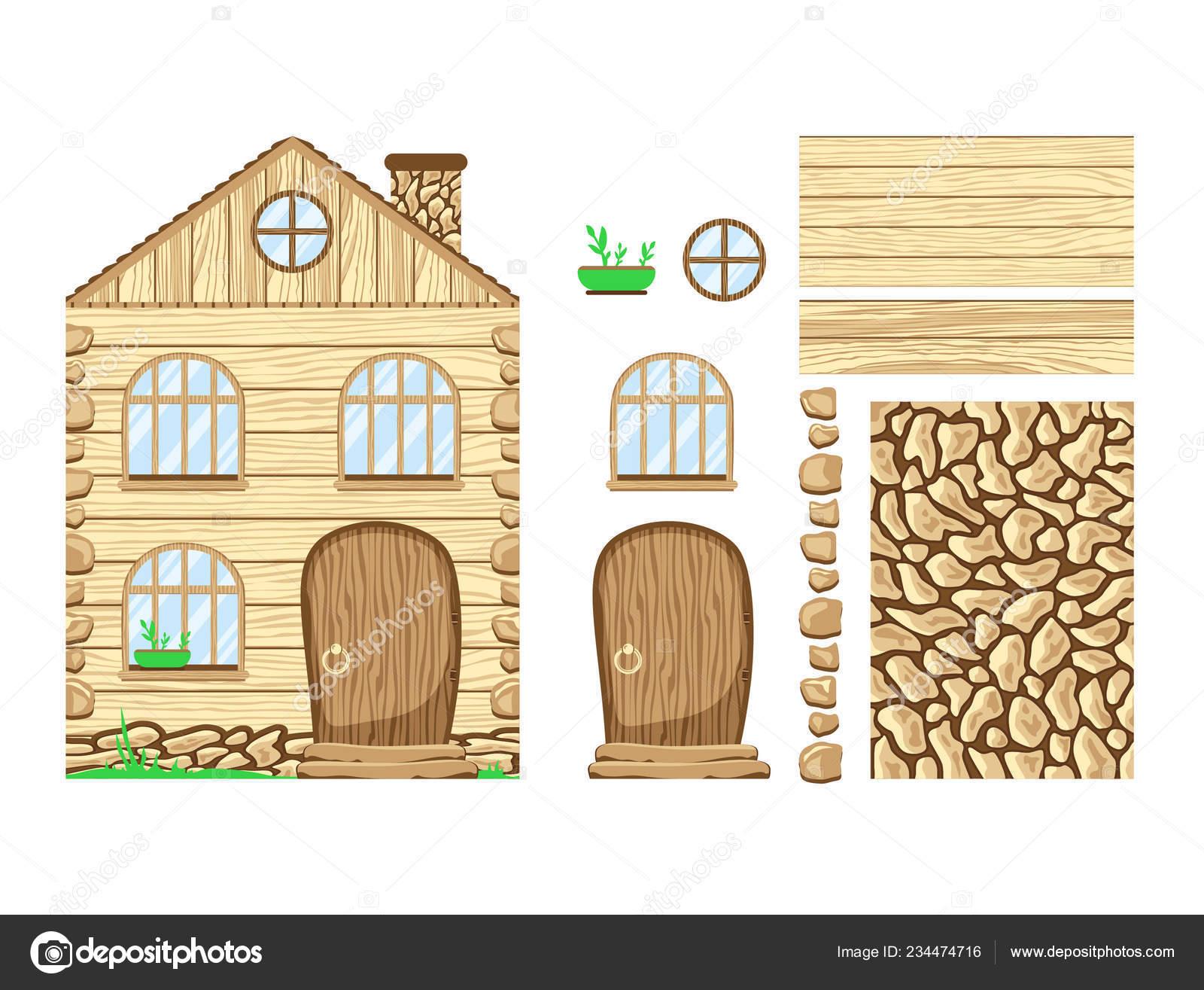 Clipart Wood House Wooden House Wonderland Set Clipart Stock