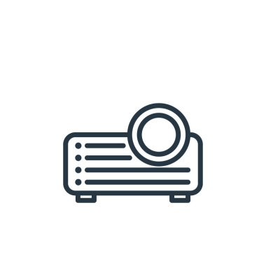 projector icon vector from electronic devices outline concept. Thin line illustration of projector editable stroke. projector linear sign for use on web and mobile apps, logo, print media.