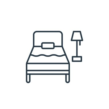 single bed icon vector from travel concept. Thin line illustration of single bed editable stroke. single bed linear sign for use on web and mobile apps, logo, print media.