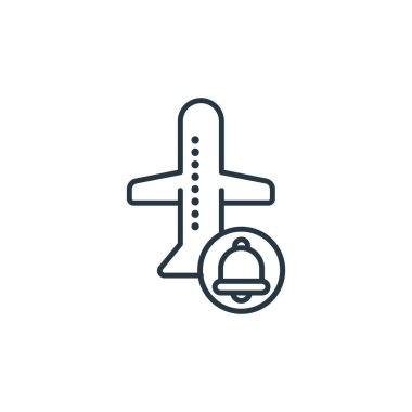 reminder icon vector from travel concept. Thin line illustration of reminder editable stroke. reminder linear sign for use on web and mobile apps, logo, print media.