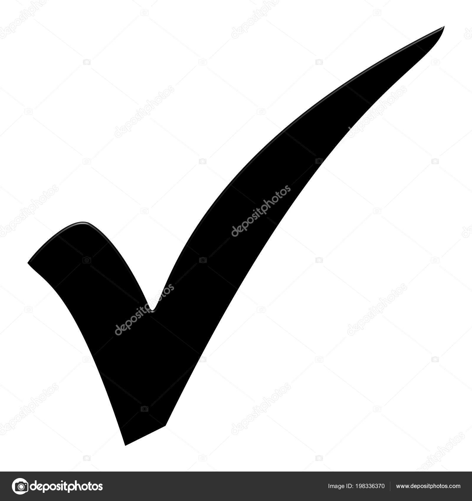 Isolated Black Tick Symbol Checklist — Stock Photo © keport #198336370