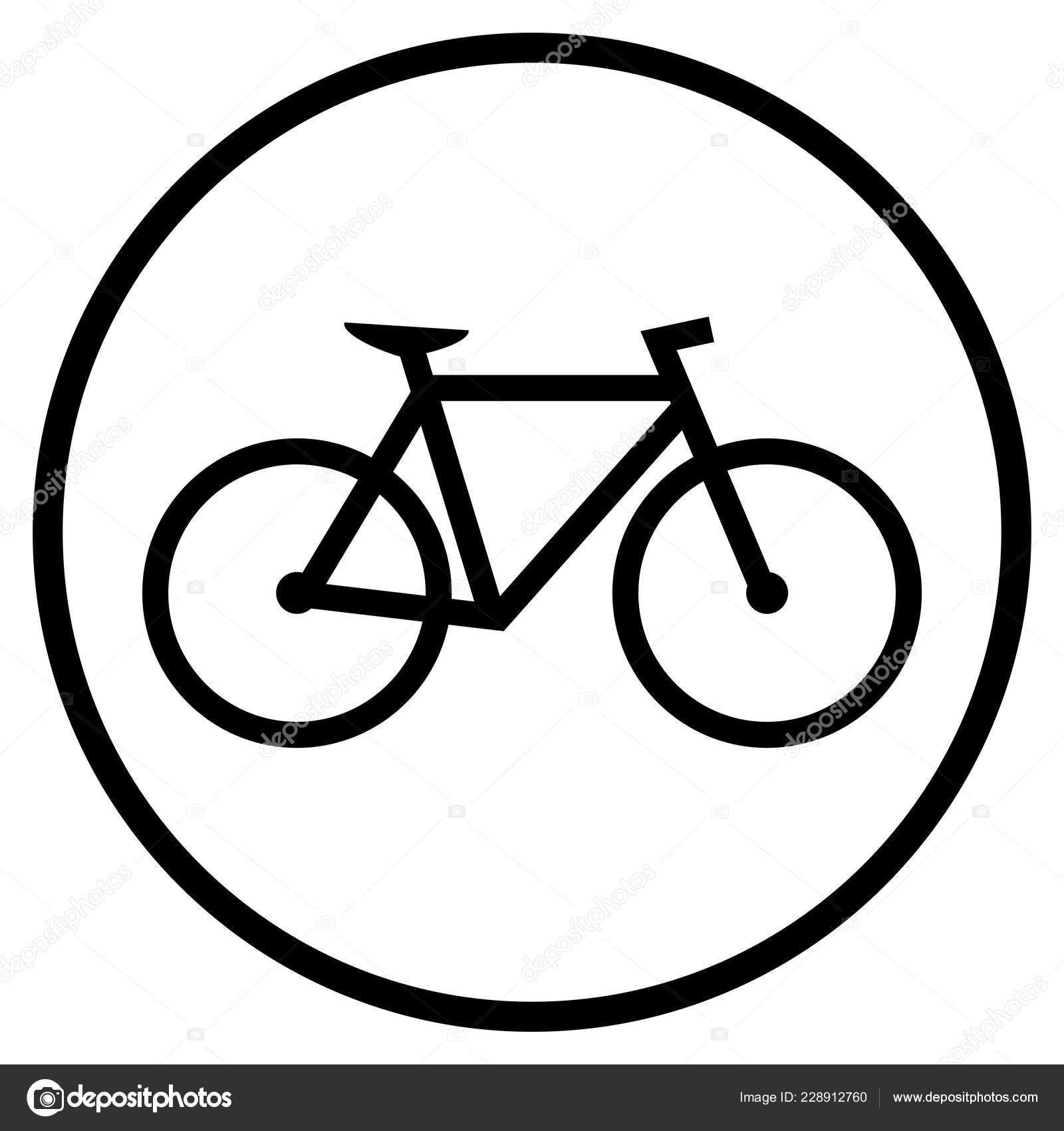 Simbolo Della Bicicletta Icona Piana Biciclette Pista Ciclabile