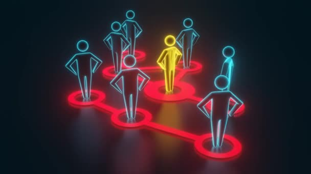 Az arany emberi 3D-s szám kiterjeszti befolyását a szomszédos figurákon. 3D-leképezés