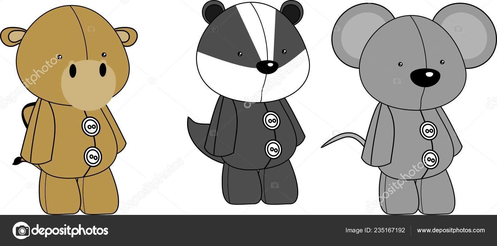 Image of: Cute Kawaii Kawaii Animals Plush Toy Cartoons Collection Set In Vector Format Very Easy To Edit Vector By Hayashix23 Amazoncom Kawaii Animals Plush Toy Cartoons Collection Set Vector Format Very