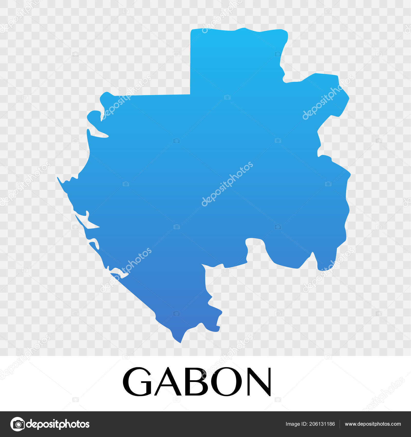 Gabon Map Africa Continent Illustration Design Stock Vector