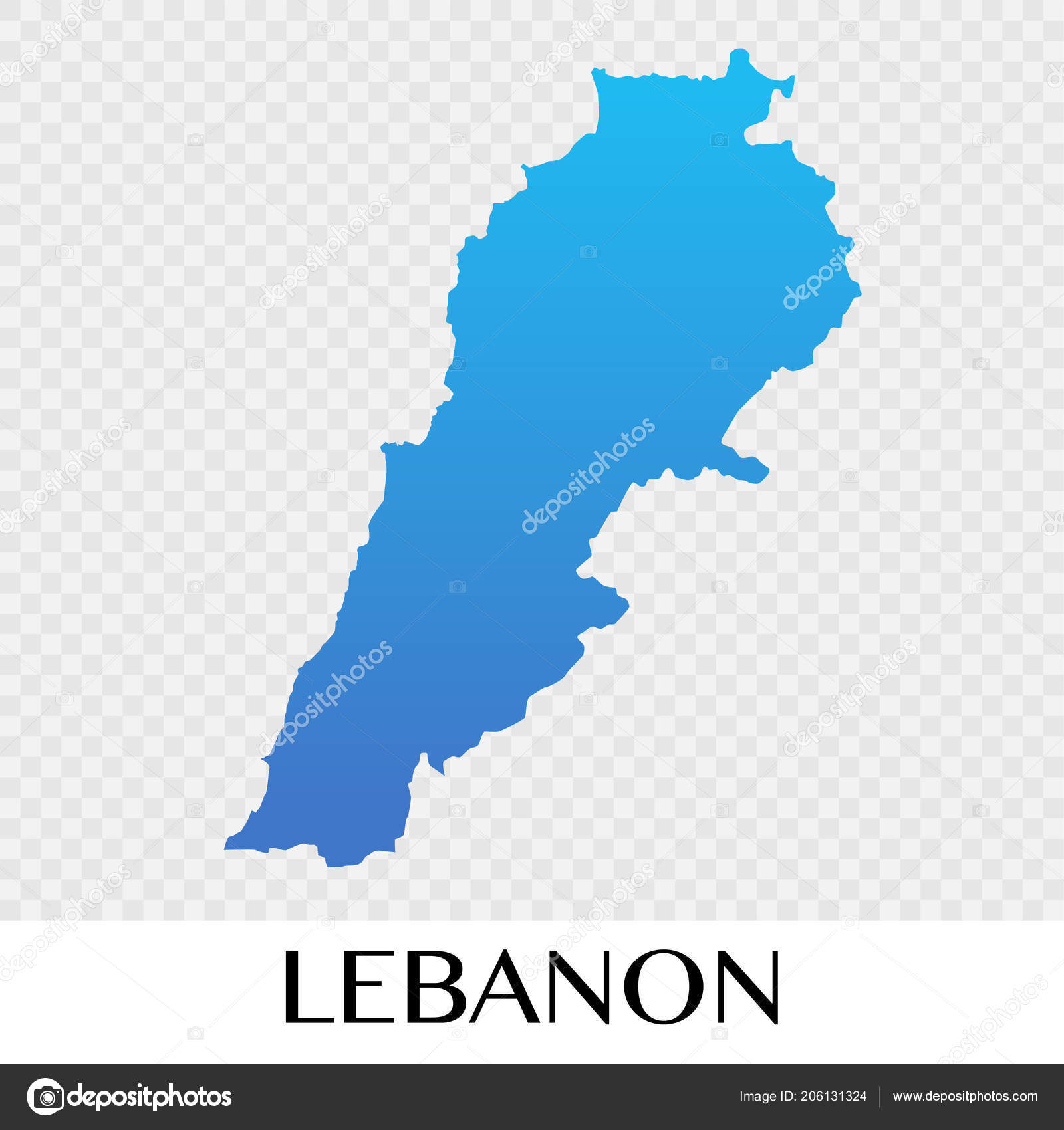 Lebanon Map In Asia Continent Illustration Design U2014 Vector By  Bluehousestudio
