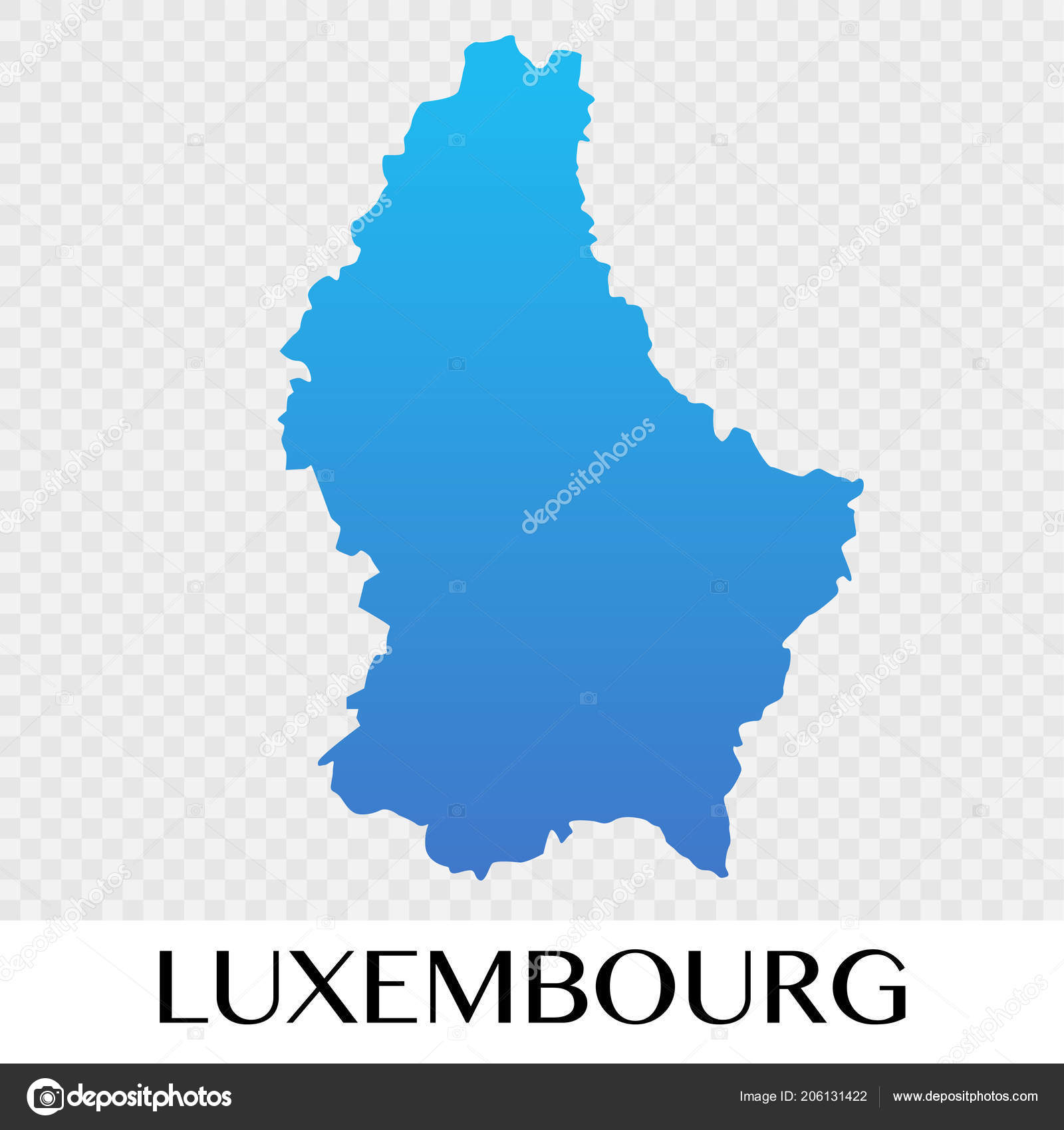 Luxembourg Map Europe Continent Illustration Design Stock Vector