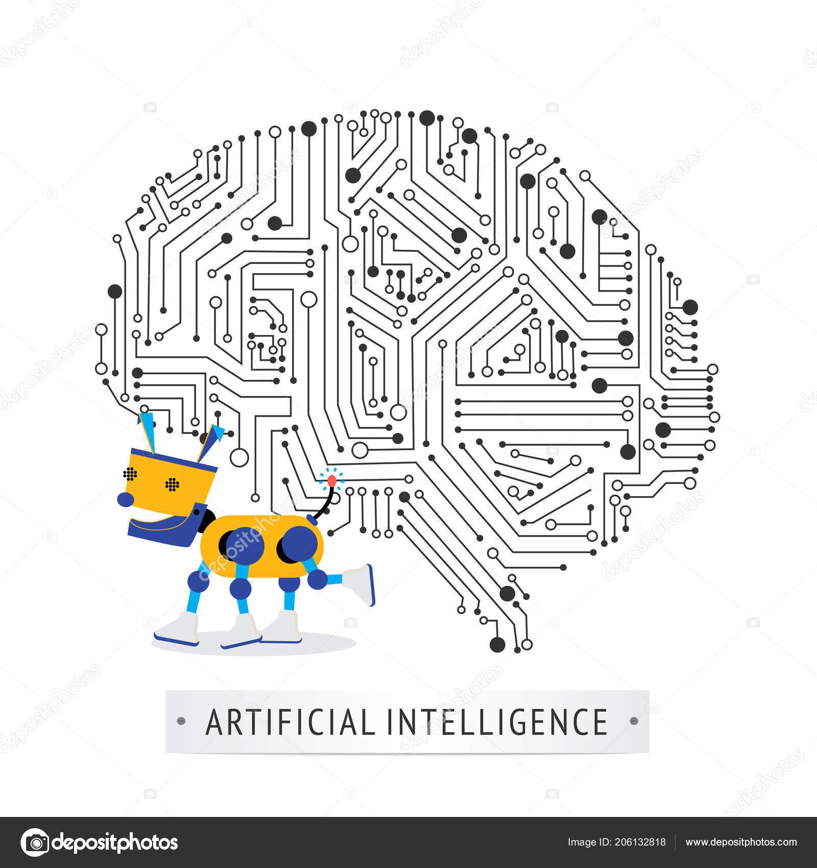 Robot Intelligence Artificial Concept Stock Vector