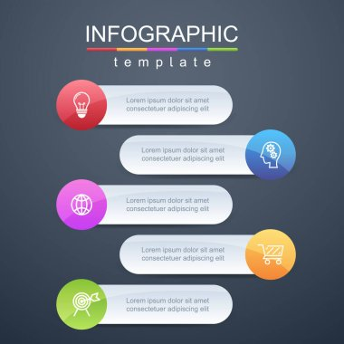 Modern design templates for presenting marketing information or business planning information,Infographic template,Vector.