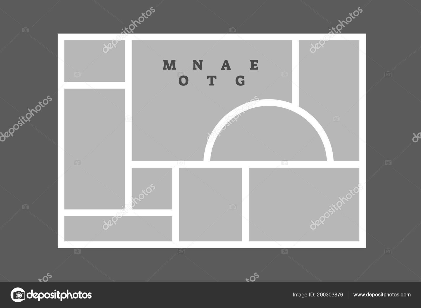 Fotomontaje collage foto marco composición decorativa plantilla en ...
