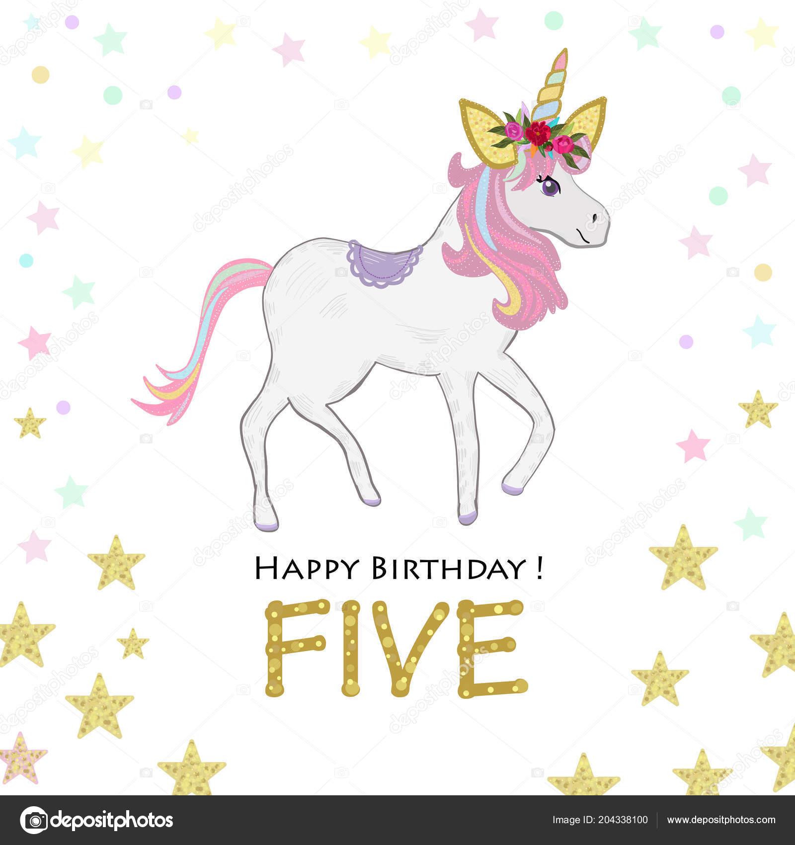 Felicitación Cumpleaños Cinco Quinto Lugar Invitación Del