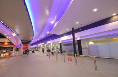 MELBOURNE AUSTRALIA - DECEMBER 9, 2018: Unidentified people travel at Melbourne International airport in Melbourne Australia.