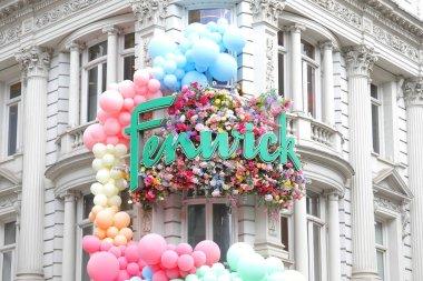 LONDON ENGLAND - JUNE 4, 2019: Fenwick department store Oxford Circus cityscape London UK