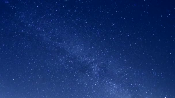 Milky Way at night with stars. Starry sky time lapse