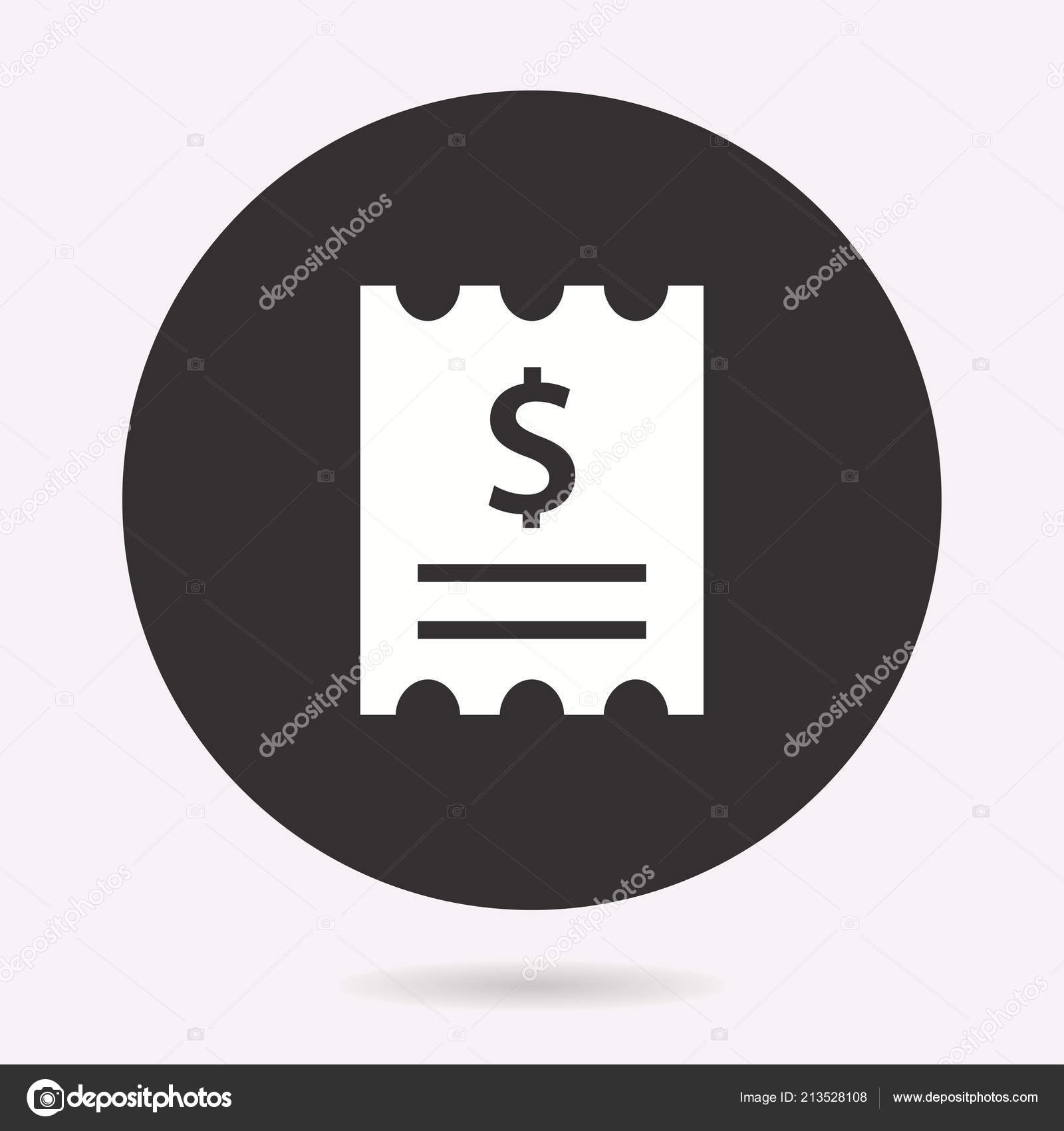 receipt icon vector illustration isolated simple pictogram graphic web design stock vector
