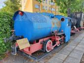 Fotografie Sochaczew, Polen - 07.07.2020. Dampflokomotive im Freilichtmuseum in Sochaczew. Feuerlose Dampfmaschine aus einer Fabrik in Chemnitz.