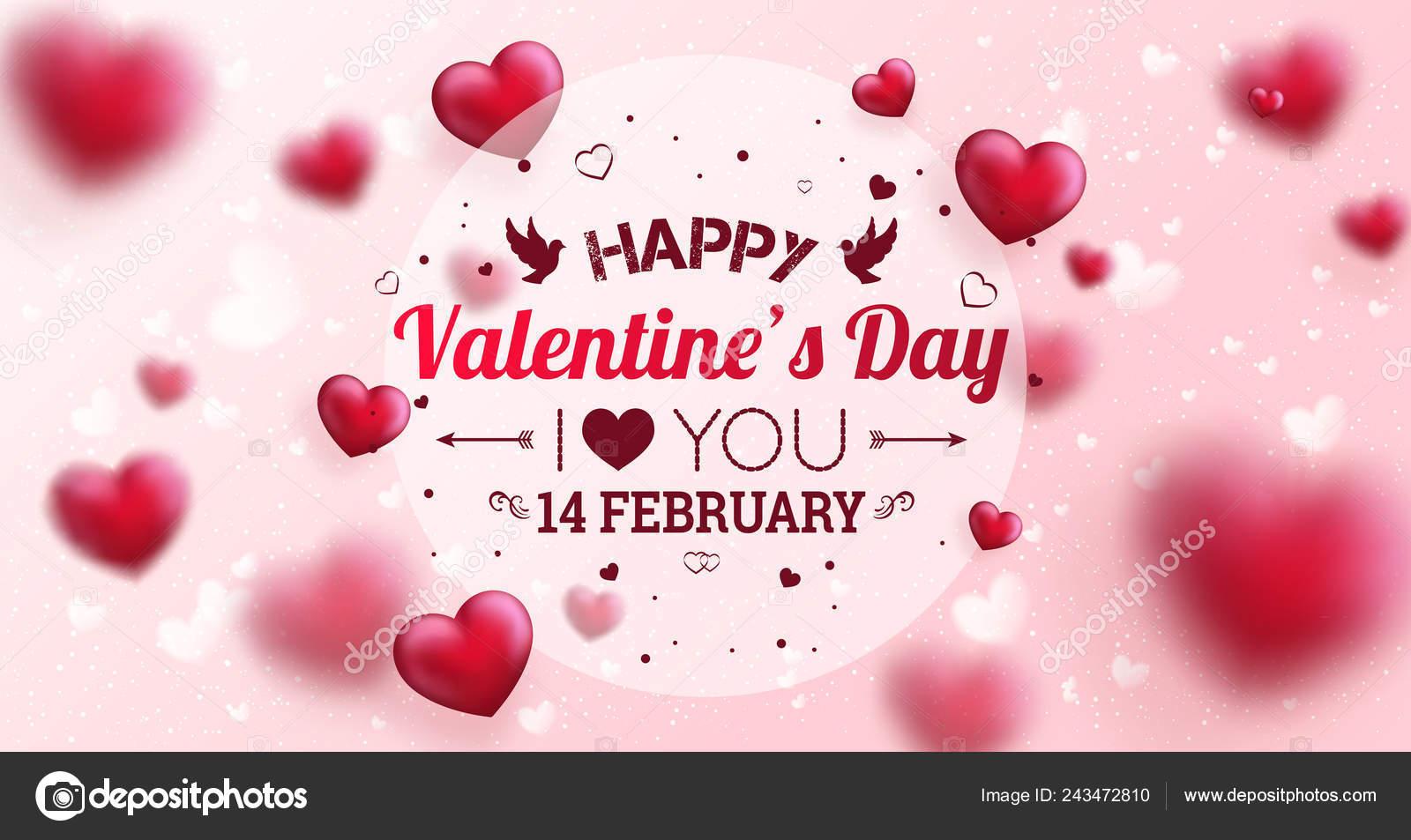 Texte Pour Carte Voeux Pour Jour Valentine Heureux Bannière