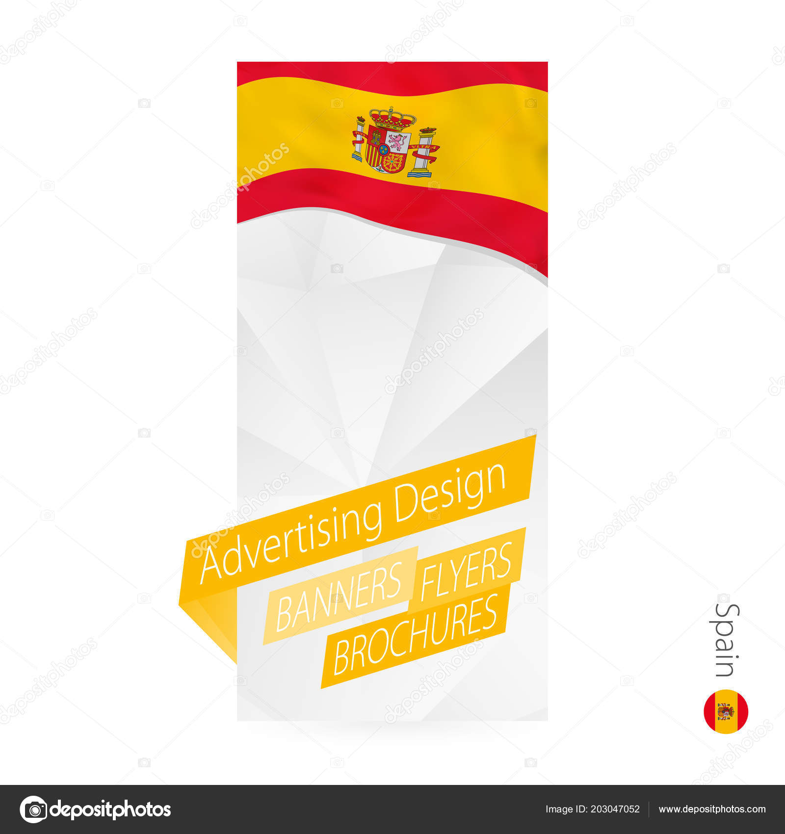 vector abstract banner template spain advertising template flag
