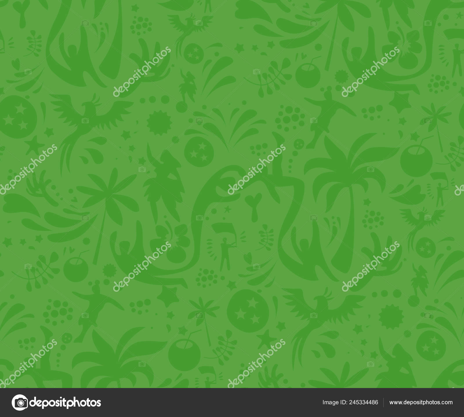 Seamless Sports Green Pattern Abstract Football Vector