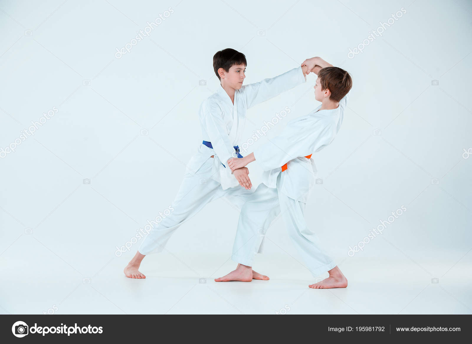 4652fe8fee771 The two boys fighting at Aikido training in martial arts school. Healthy  lifestyle and sports