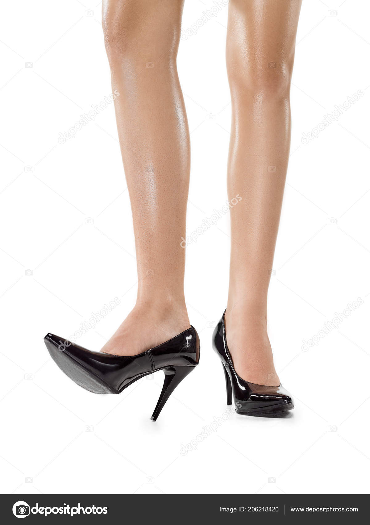 4d68d25b4c349d Tanned female legs in high heels isolated on white background jpg 1199x1700 Tanned  heels