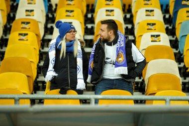 Fans of Dynamo Kiev during the UEFA Europa League match FC Dynamo Kiev vs Chelsea