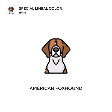 American foxhound Special lineal color vector icon. American foxhound icons for your business project icon