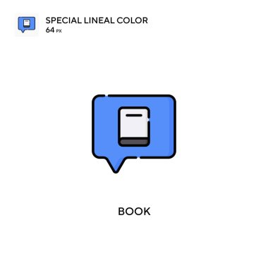 Book Special lineal color vector icon. Book icons for your business project