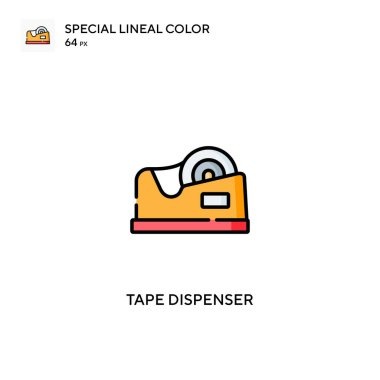 Tape dispenser Special lineal color vector icon. Tape dispenser icons for your business project icon